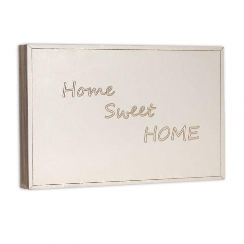 Holzbild 23x15cm Home sweet HOME