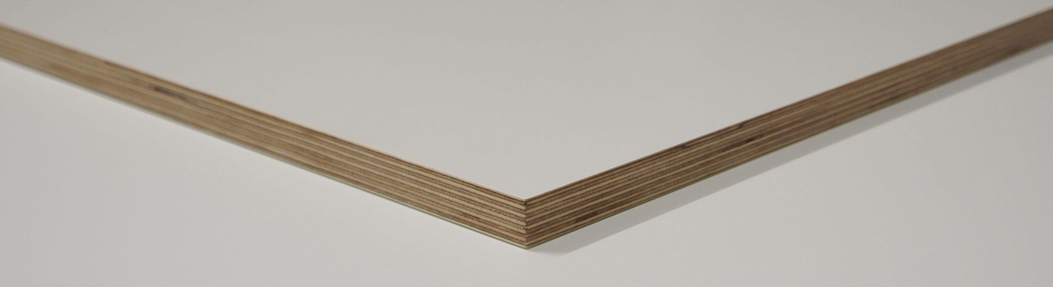 Sperrholz weiss beschichtet