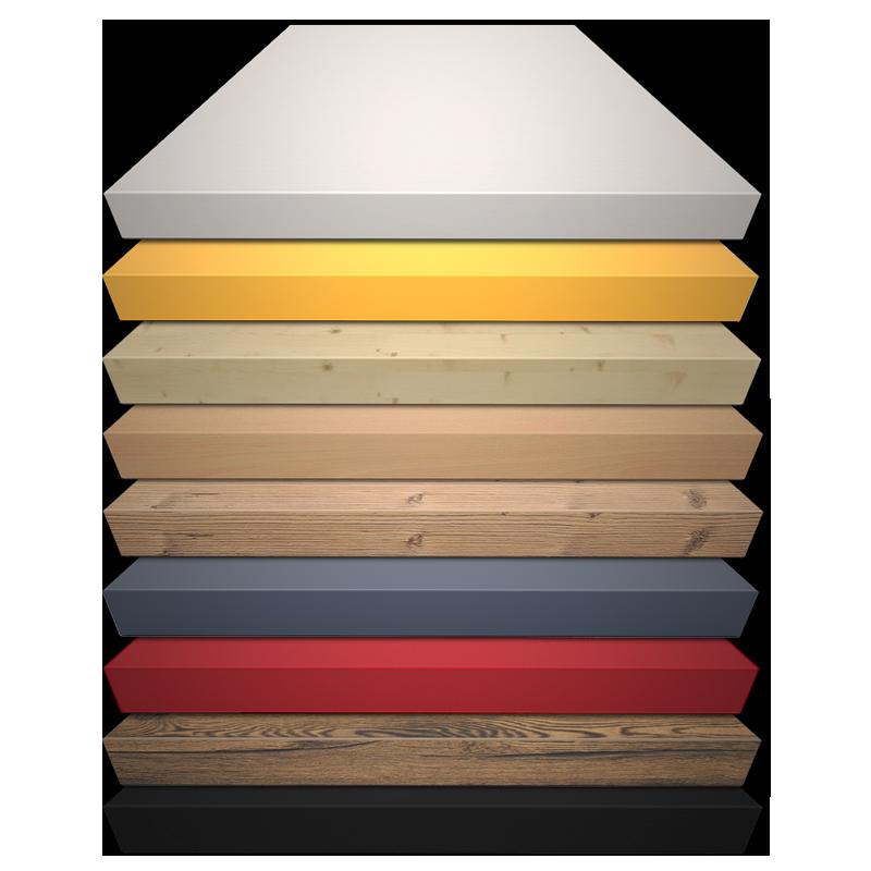 Beschichtete Spanplatten in vielen Farben