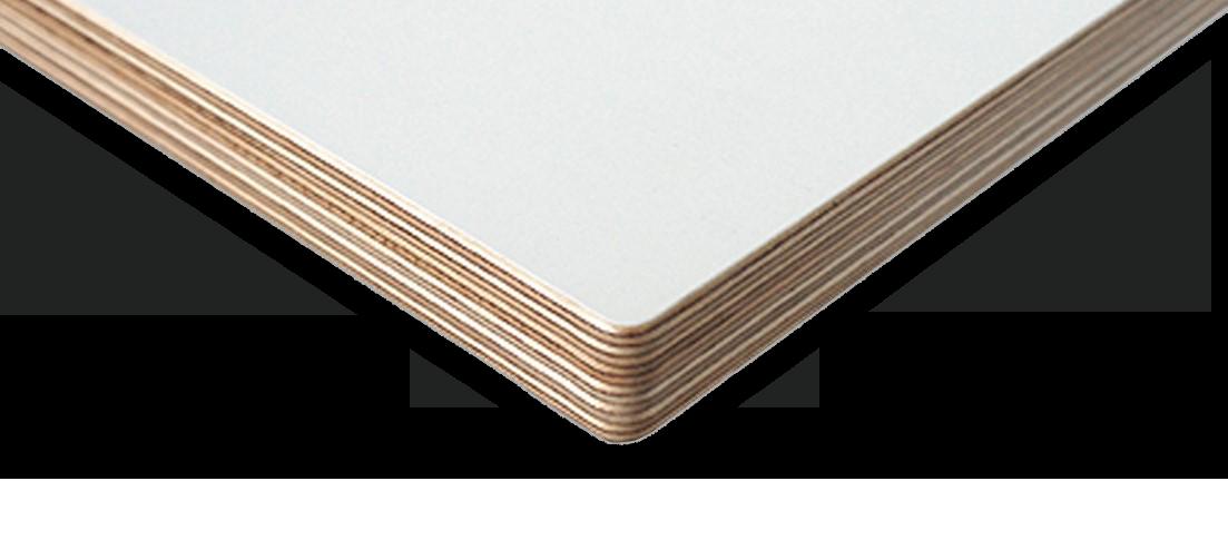 Sperrholz weiß beschichtet