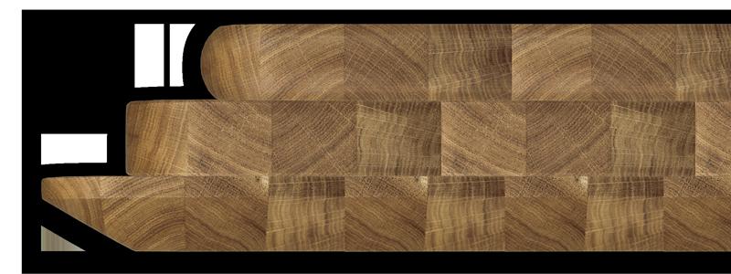 Mögliche Profile unserer Massivholzplatten