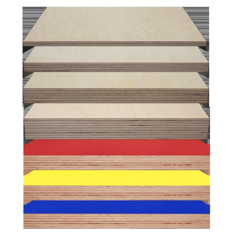 Sperrholz und Multiplex in vielen Farben